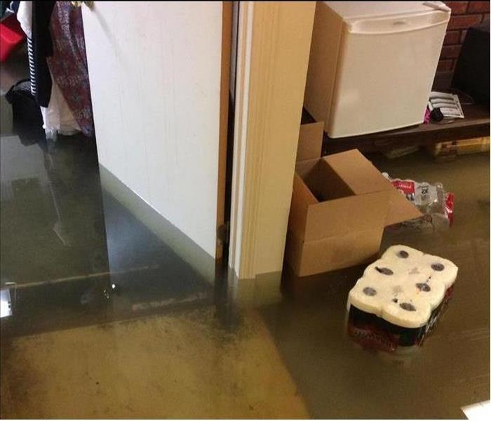 Flooded Basement in Trenton, OH Home Before